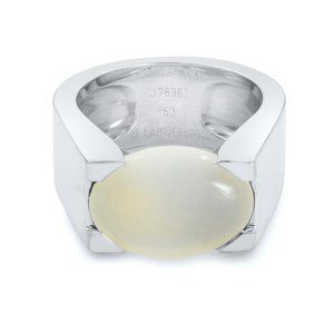 Cartier Moonstone Large White Gold Ring